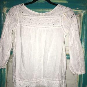 J Crew linen blouse